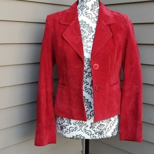 I.E. Red Suede / Leather Jacket